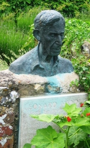 Leonard Woolf bust at Monk's House in Rodmell, Sussex, England