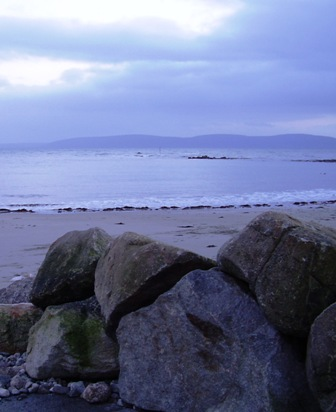 Galway Bay with rocks