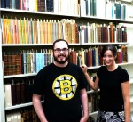 A portion of the Woolf library reassembled by Andrew McCarthy and Nora Wiechert, doctoral candidates in English literature at WSU