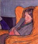 NPG 5933. Virginia Woolf (née Stephen) by Vanessa Bell (née Stephen), 1912. Oil on board, 15 3⁄4 x 13 3⁄8 inches (400 x 340 mm). National Portrait Gallery, London
