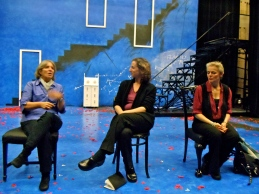 "Mary Gordon, Rachel Dickstein and Ellen Mclaughlin at a performance of ""Septimus and Clarissa"" in New York City in October 2011."