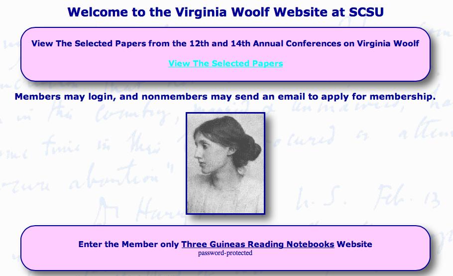 list of virginia woolfs essays