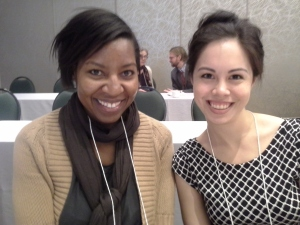 Graduate students Bureen Ruffin of Pace University and Sara Remedios of CUNY presented papers at the conference.