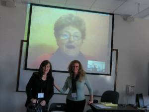 Suzanne Bellamy via Skype with Judith Allen and Patrizia Muscogiuri