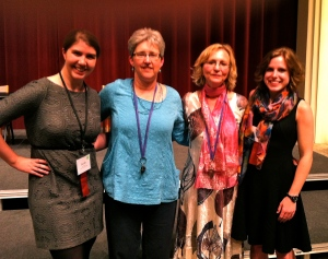 Conference organizers and their graduate assistants: Sarah Polen, Diana Swanson, Pamela Caughie and Katie Dyson.
