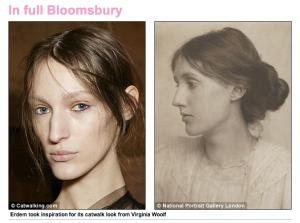 Virginia Woolf hairdo