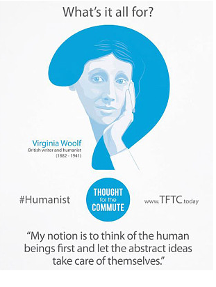 Woolf quote in Tube