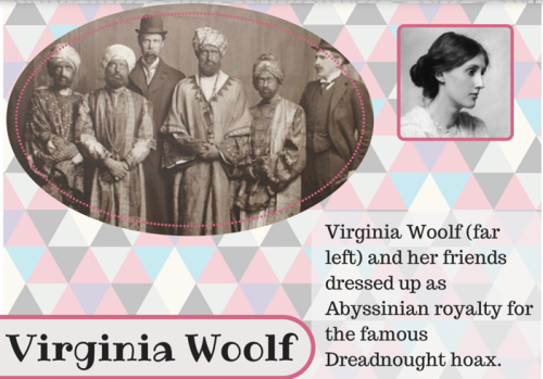Woolf in costume