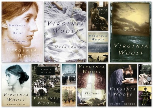 Woolf book cover collage