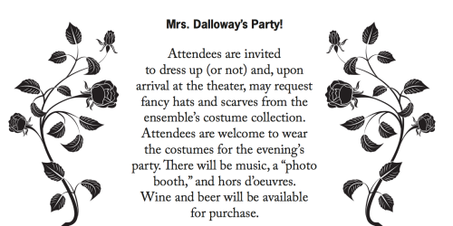 Mrs. Dalloway's Party 2 #WoolfConf15