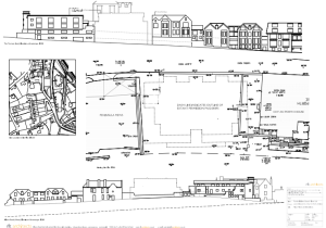Architect's drawings of the existing floor plans and elevations for the proposed development.