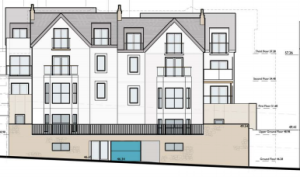 Front view of the proposed project