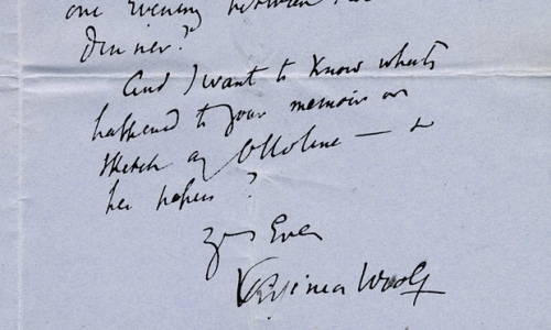 Woolf letter to philip closing lines