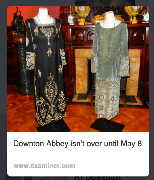 The Virginia Woolf gown is on the left in this screenshot of a Pinterest pin.