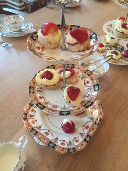 Our lovely tea included real china and scones with jam and clotted cream.
