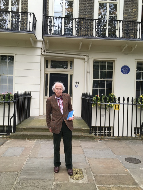 Cecil Woolf at 46 Gordon Square, where Virginia lived from 1905-1907.