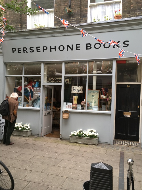 No walk around London would be complete without a stop at a bookstore, so we visited Persephone Books.