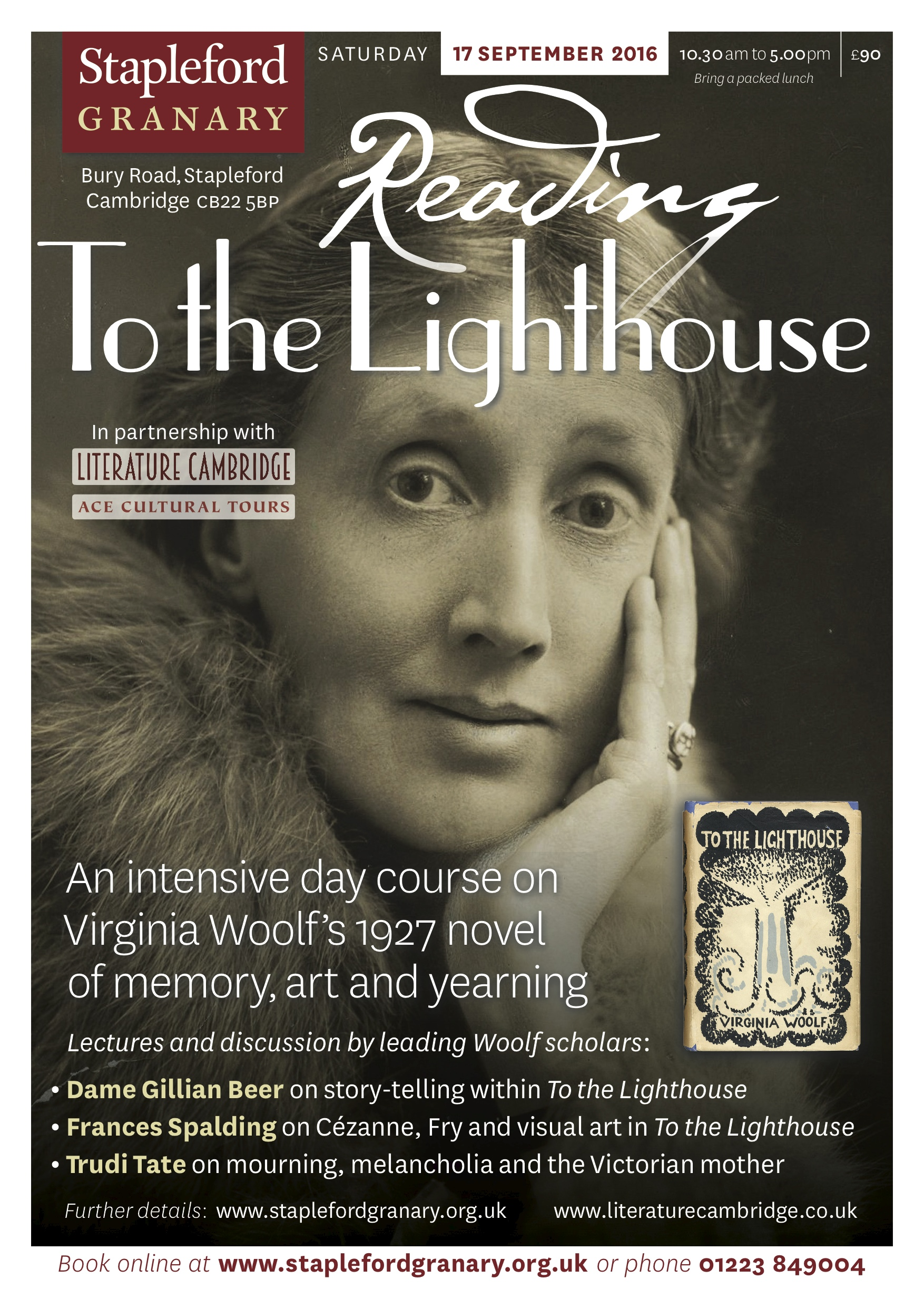 to the lighthouse blogging woolf literature cambridge presents reading to the lighthouse a study day on stapleford poster woolf 2016 jpg