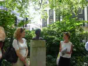 Claudia Tobin in Tavistock Square, London