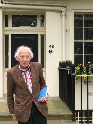 Cecil Woolf at 46 Gordon Square, London, where Virginia lived from 1905-1907