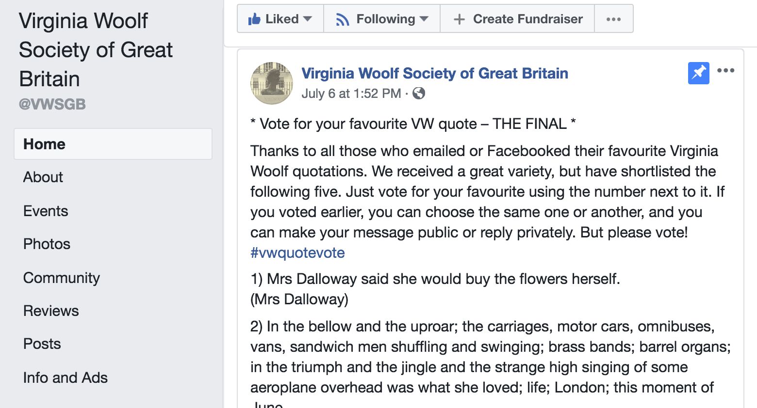 Quotes From Mrs Dalloway With Page Numbers: Focusing On Virginia Woolf And Her Circle