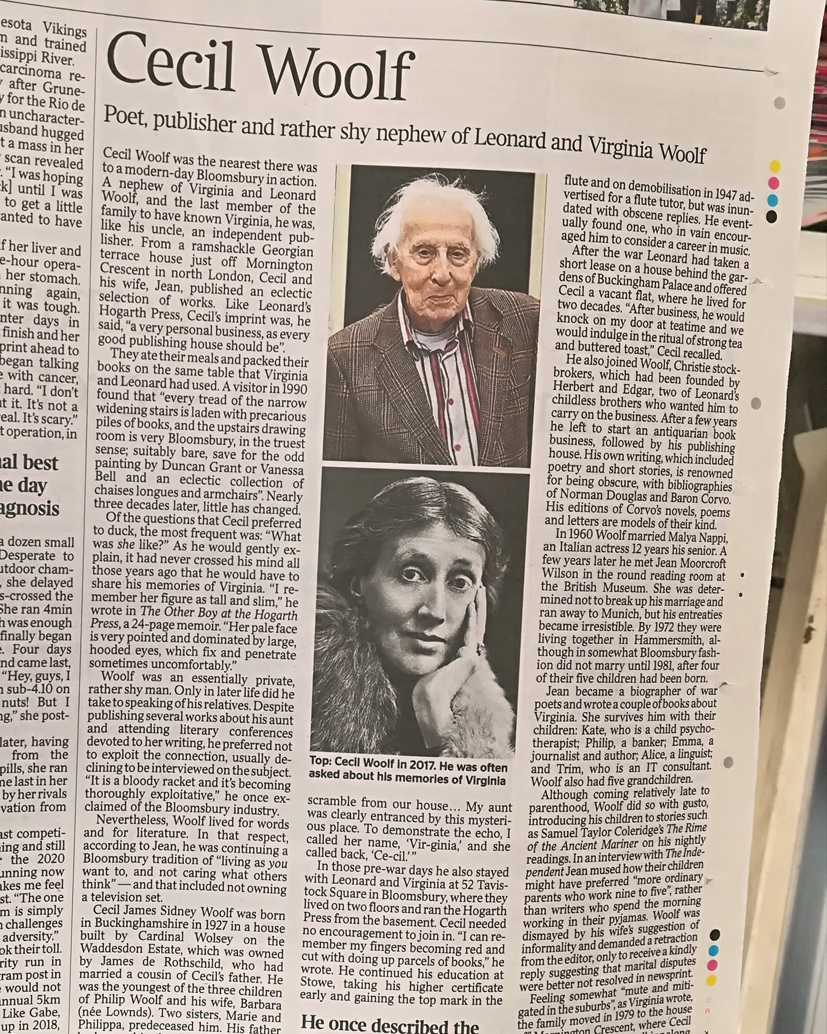 Cecil Woolf obituary in The Times | Blogging Woolf